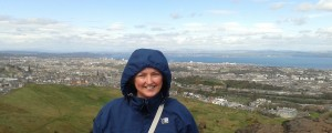 Even in summer, it's pretty cold...Arthur's Seat, Edinburgh, Scotland.